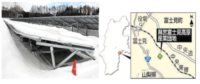 メガソーラー雪で損傷